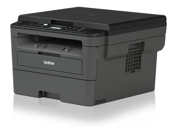 Brother HL-L2390DW Monochrome Laser Printer with Convenient Flatbed Copy & Scan, Duplex and Wireless Printing - HL-L2390DW-0